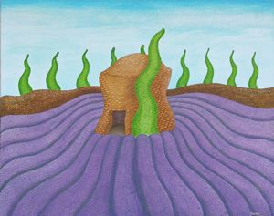 Lavender field acrylic 1, France