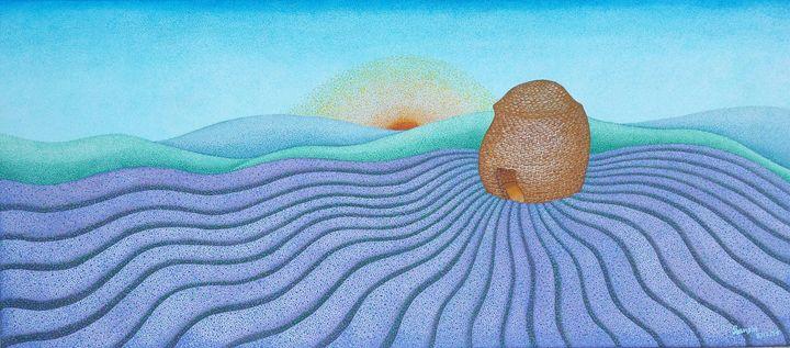 Lavender field acrylic 2, France - sansiri's studio