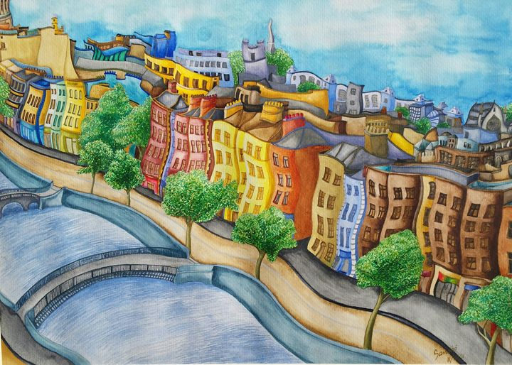 Liffey River and the quays, Dublin - sansiri's studio