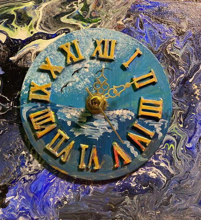 Abstract art clock - Artcreationsathome