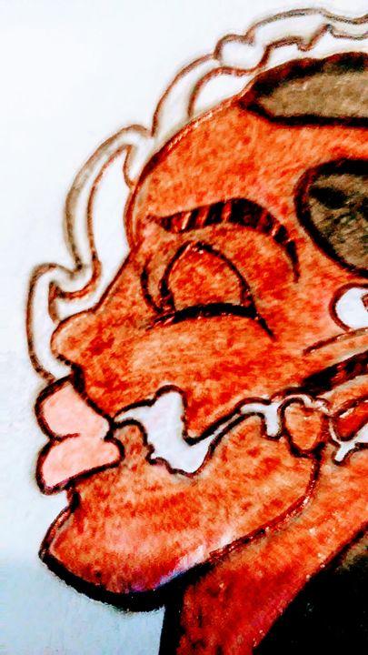 Woman in smoke - Jonesoffspring