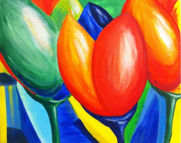 Bright Tulips - YG Art