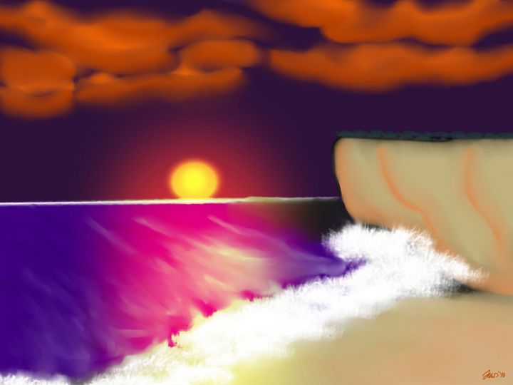 sunset on the sea - Jaws83 Gifts by Design