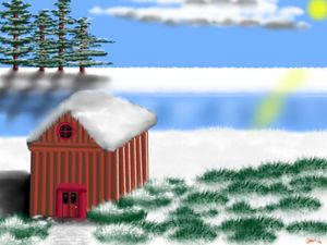 The snow hut