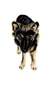 German shepard (zeus) - Jaws83 Gifts by Design