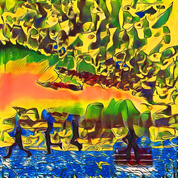 Gone Fishing - Imagined Cubism