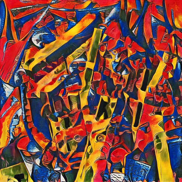Battle of the Samurai - Imagined Cubism