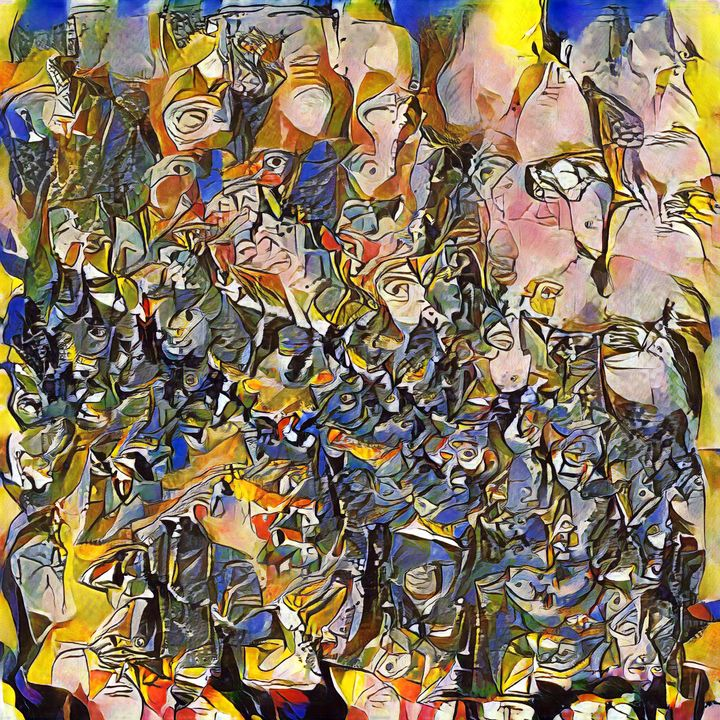 The Masks of Disinformation - Imagined Cubism