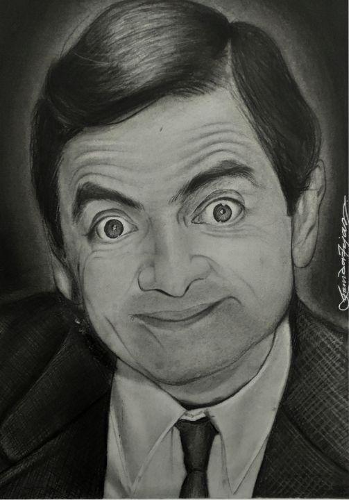 Mr. Bean realistic portrait - Art by Tejas