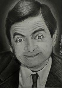 Mr. Bean realistic portrait