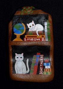 Bookshelf Cats