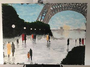 Paris eiffel tower stroll