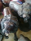 exquisitely hand carved lions