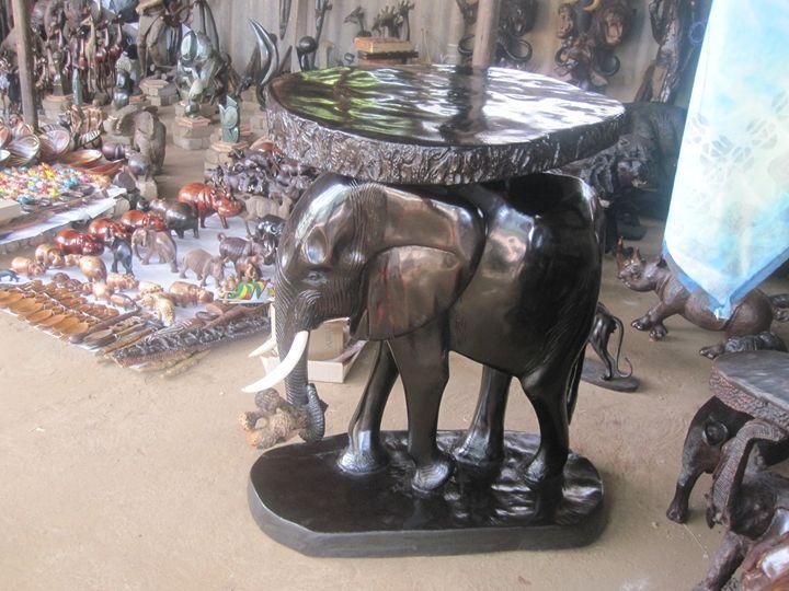 ELEPHANT TABLE $1500.00 - YADAH SCULPTURES