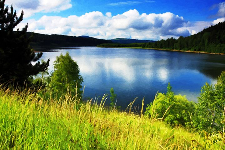 Lake in Montana - Larry Stolle