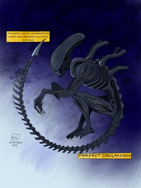 Xenomorph (Day 2 of Spooktober) - Kiślu