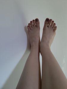 Feet on the wall