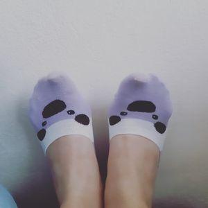 Feet with panda socks