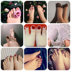 Mozaic of feet