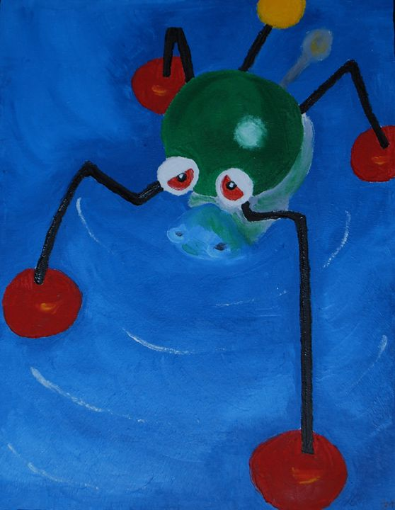 Sad Spider - YuePing's Paintings