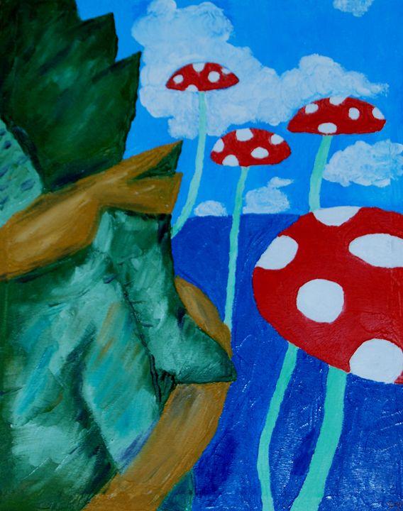 Mushroom Land - YuePing's Paintings