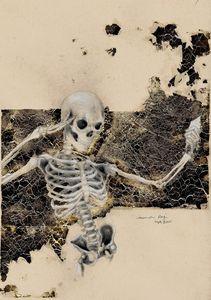 Skeleton with Ice Cream