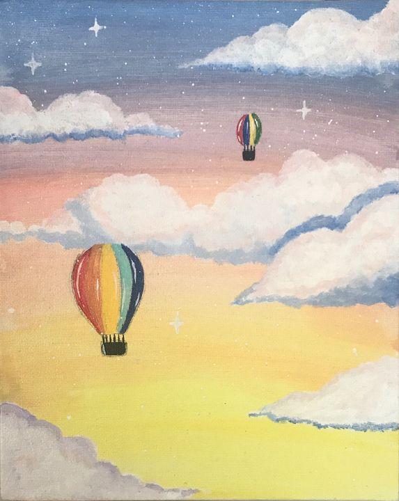 Dreamy cloud painting - fidaninspire