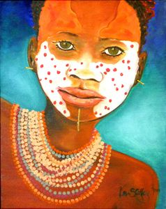 """African Painted Face"""