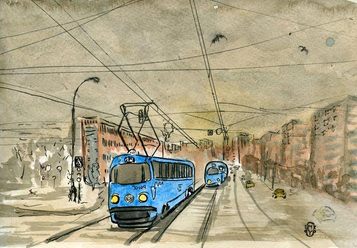 Blue Streetcar - SplatterMarks