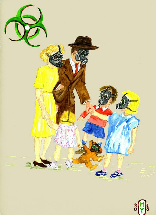 Gas Mask fun for Dick and Jane - SplatterMarks