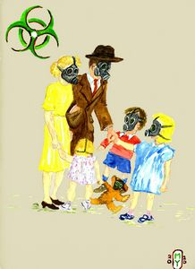 Gas Mask fun for Dick and Jane