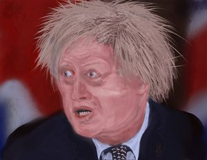 Vexed Boris Johnson - SplatterMarks