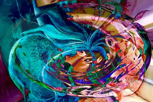 colorful abstract swirl art
