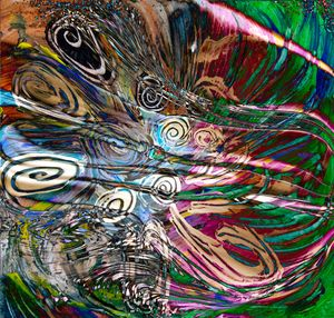 fluid energetic flow art abstract