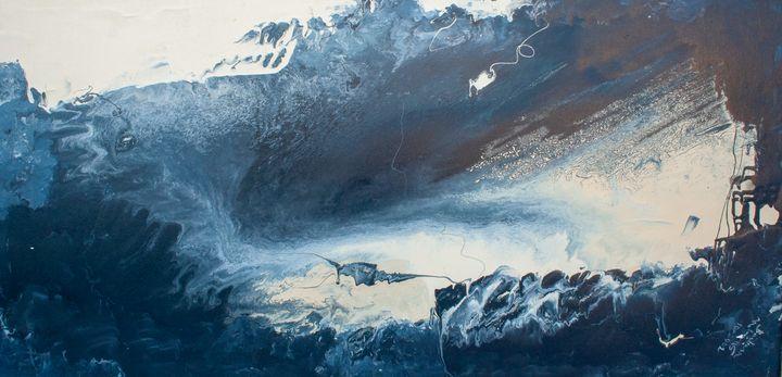blue vision abstract - BBS Art