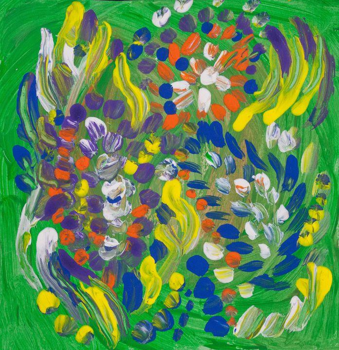 Abstract Fluid Flower Composition - BBS Art