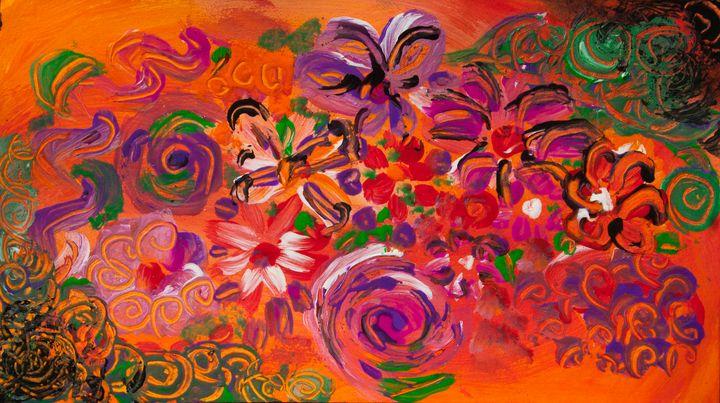 abstract colorful flower garden - BBS Art