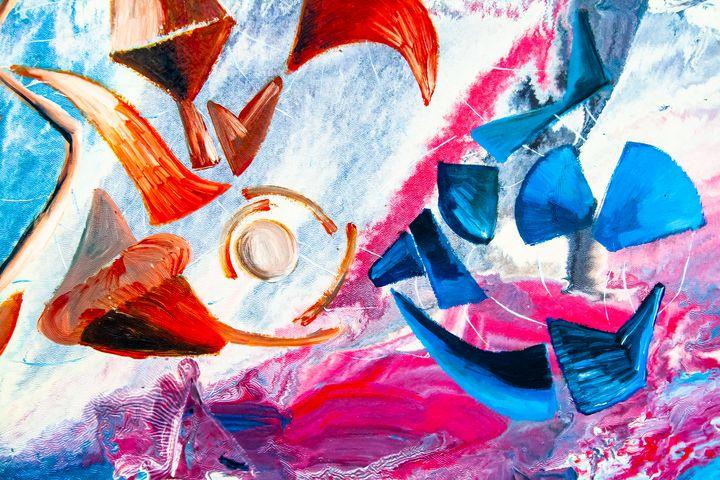 flying geometric shapes - BBS Art