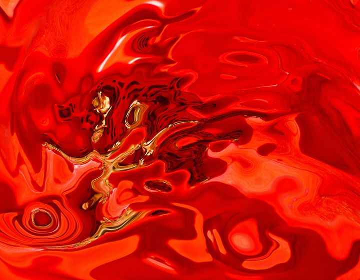 tones of deep red and yellow shades - brunopaolobenedetti