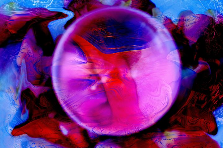 abstract view through crystal sphere - brunopaolobenedetti