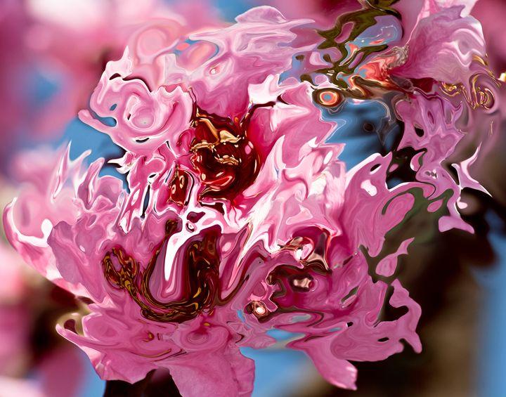 pink shades on blue background - brunopaolobenedetti