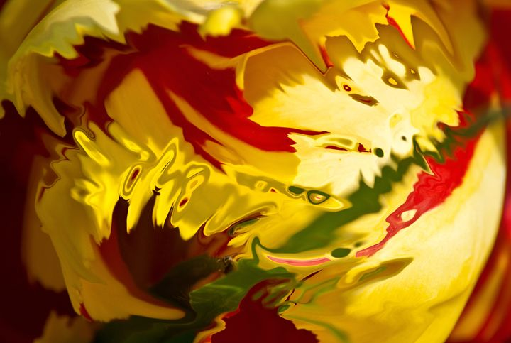 shades of yellow and red with light - brunopaolobenedetti