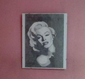 Marilyn Monroe Charcoal Portrait