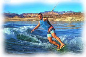 Skurfing  Lake Mead - Water Sports