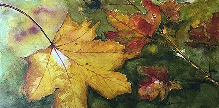 Autumn Leaves - Wineries & Landscapes by Grace Fong