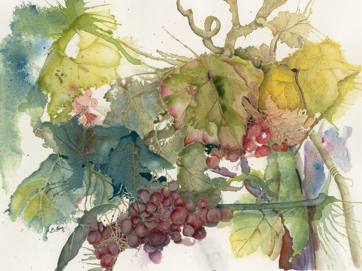 Autumn Grapes - Wineries & Landscapes by Grace Fong