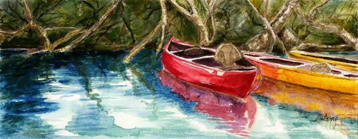 Russian River Kayaks by Grace Fong - Wineries & Landscapes by Grace Fong