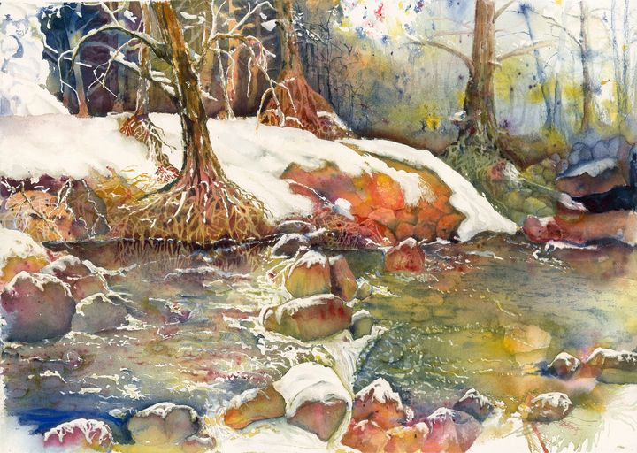 Winter Stream - Wineries & Landscapes by Grace Fong