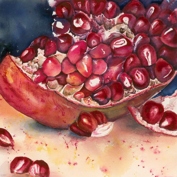 Pomegranite - Wineries & Landscapes by Grace Fong