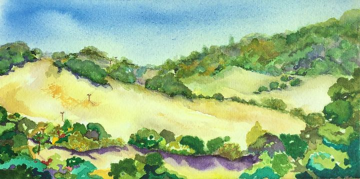 Sonoma Hills (California) - Wineries & Landscapes by Grace Fong